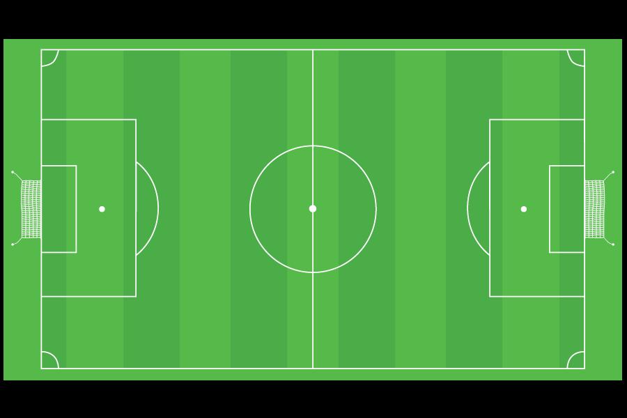 Cancha deportiva de fútbol soccer con medidas oficiales de 90m x 60m