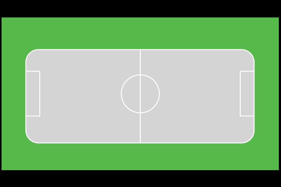 Cancha deportiva de futbol para preparación femenil juvenil de 20m x 35m